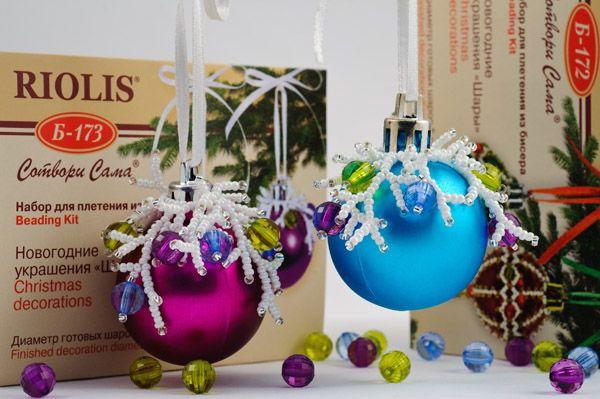 Украшения новогодних шаров своими руками