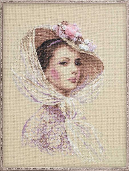 Вышивка 68-03 Девушка в шляпе Купить наборы для 96