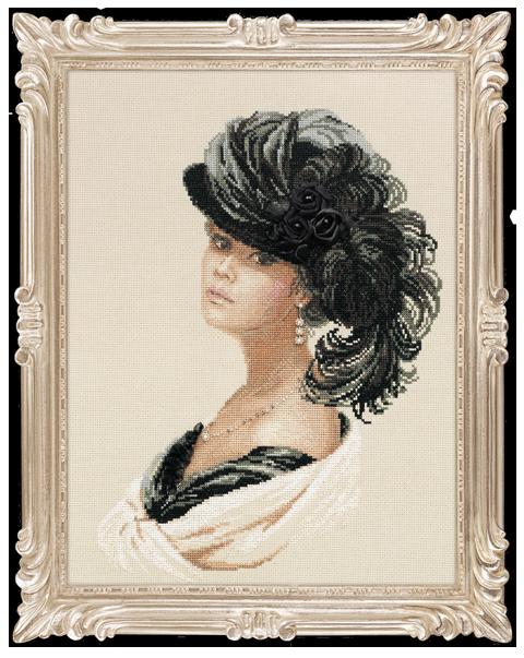 Схема вышивки крестом женских портретов