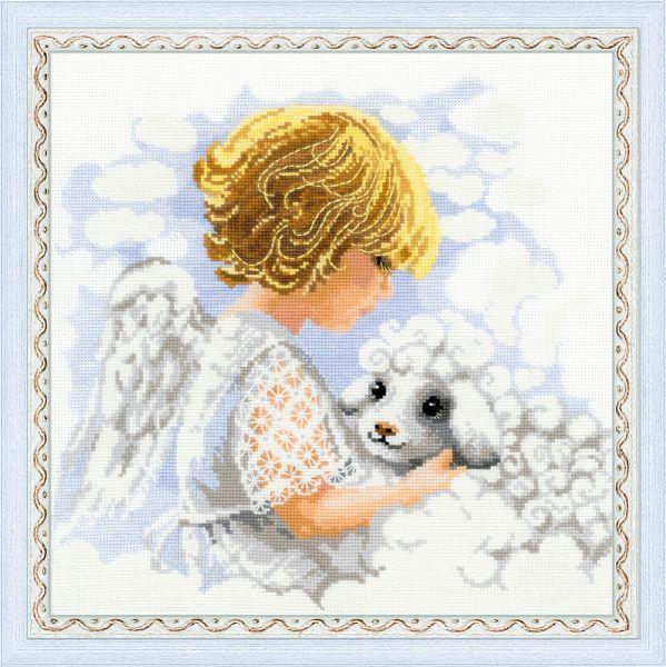Вышивка крестом подушки ангелы