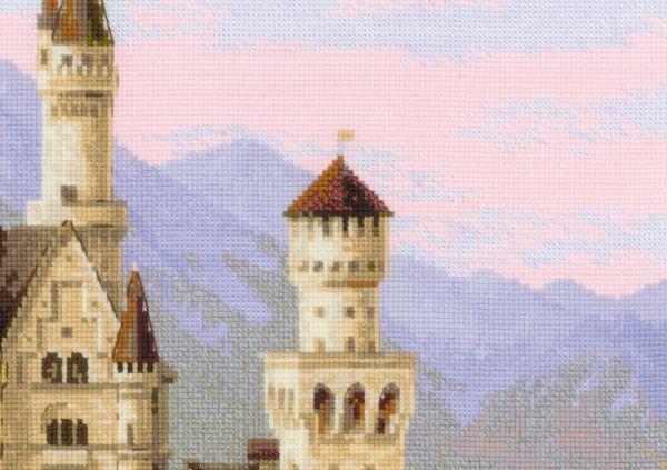 Замок вышивка нойшванштайн схема вышивки