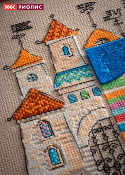 Замки вышивка риолис