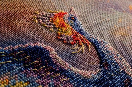 Схема вышивки птица счастья