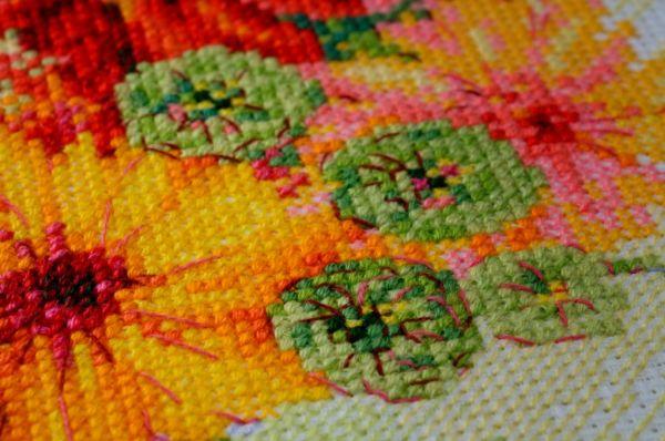 Акварельные цветы вышивка крестом