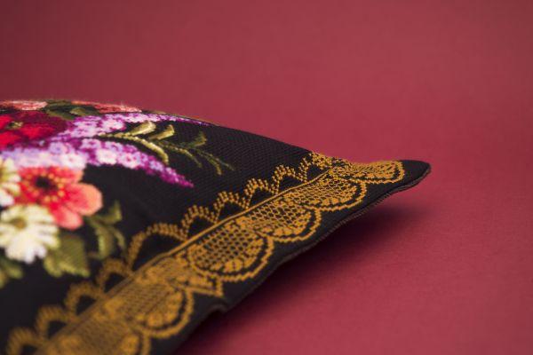 художественная гладь схема роза на ножке