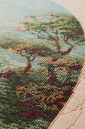 Схема вышивки пастораль риолис