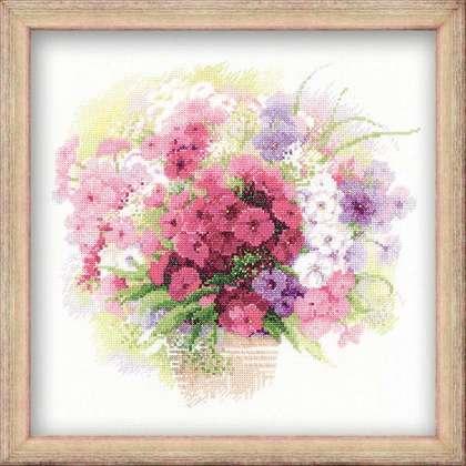 Наборы для вышивки крестом цветы купить купить разноцветныерозы розы