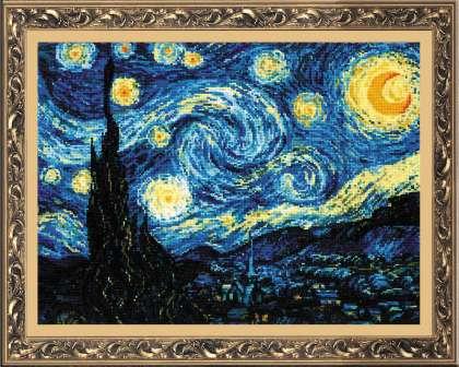 Вышивка крестом звёздная ночь