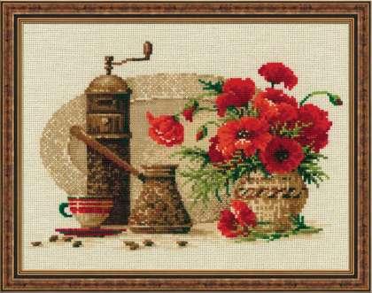 Вышивка крестом риолис кофе