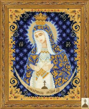 Вышивка крестом иконы риолис