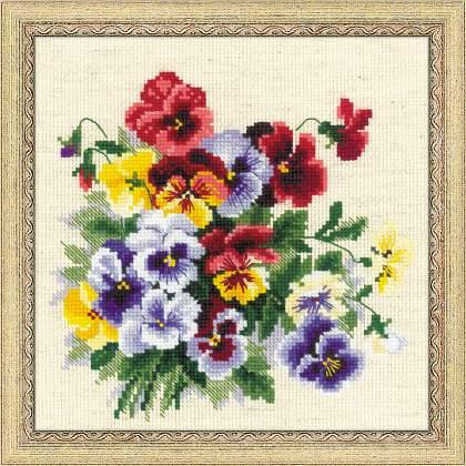 вышивка цветов бархатцы