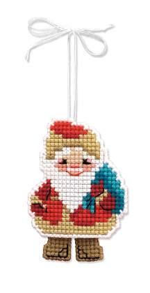 вышивка на пластиковой канве Дед Мороз
