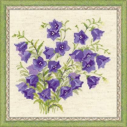 вышивка цветов колокольчик