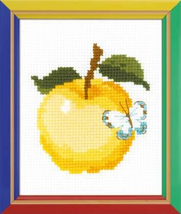 Вышивка крестом для начинающих пошагово фото яблоко