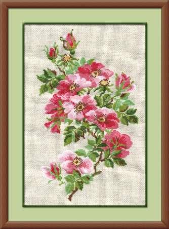 набор для вышивания шерстью цветов