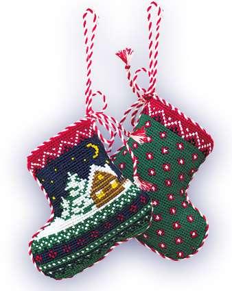 набор для рукоделия рождественский сапожок