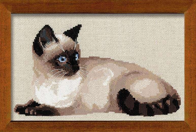 Схемы для вышивки сиамской кошки
