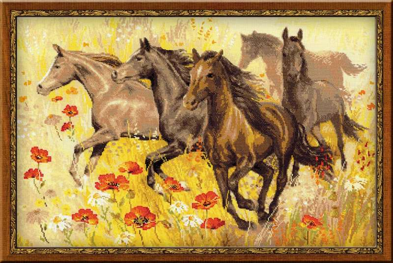 Вышивки лошадей картинки
