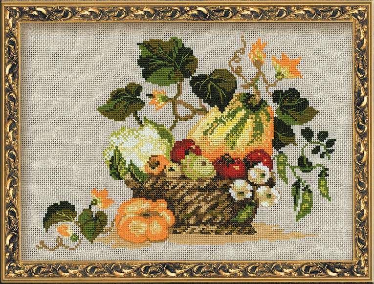 набор для вышивания крестом плоды осени