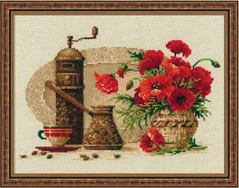 Схемы вышивки крестом картин на кухню