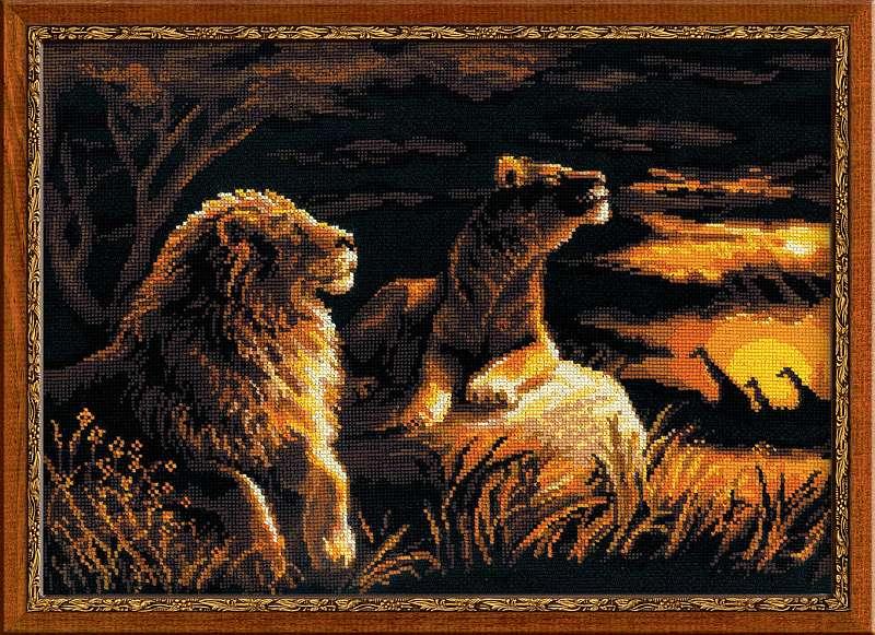 Львы вышивка крестом скачать бесплатно