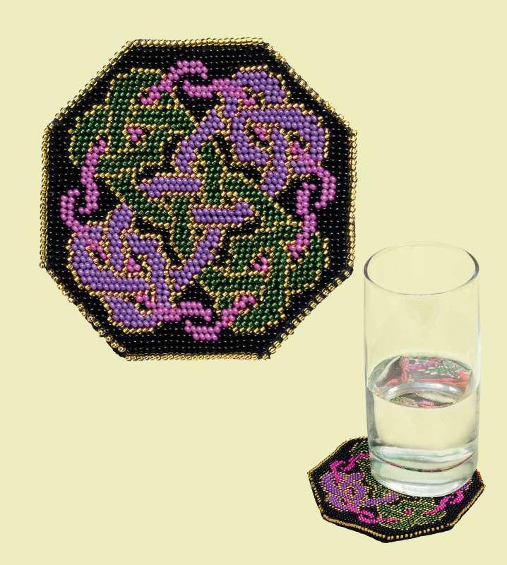 набор для вышивания бисером подставка под стакан