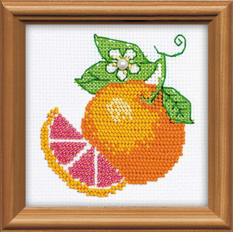 Апельсин вышивка схема