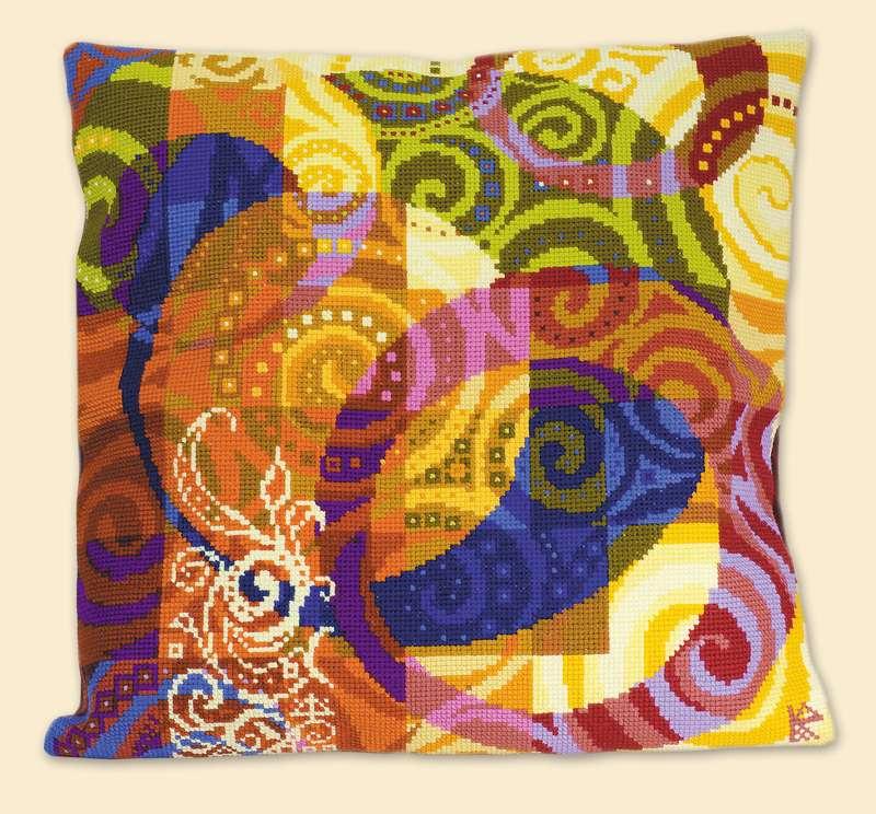 набор для вышивания крестом подушка