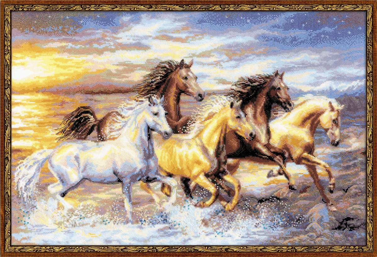 Схема вышивки крестом лошади скачать бесплатно фото 929