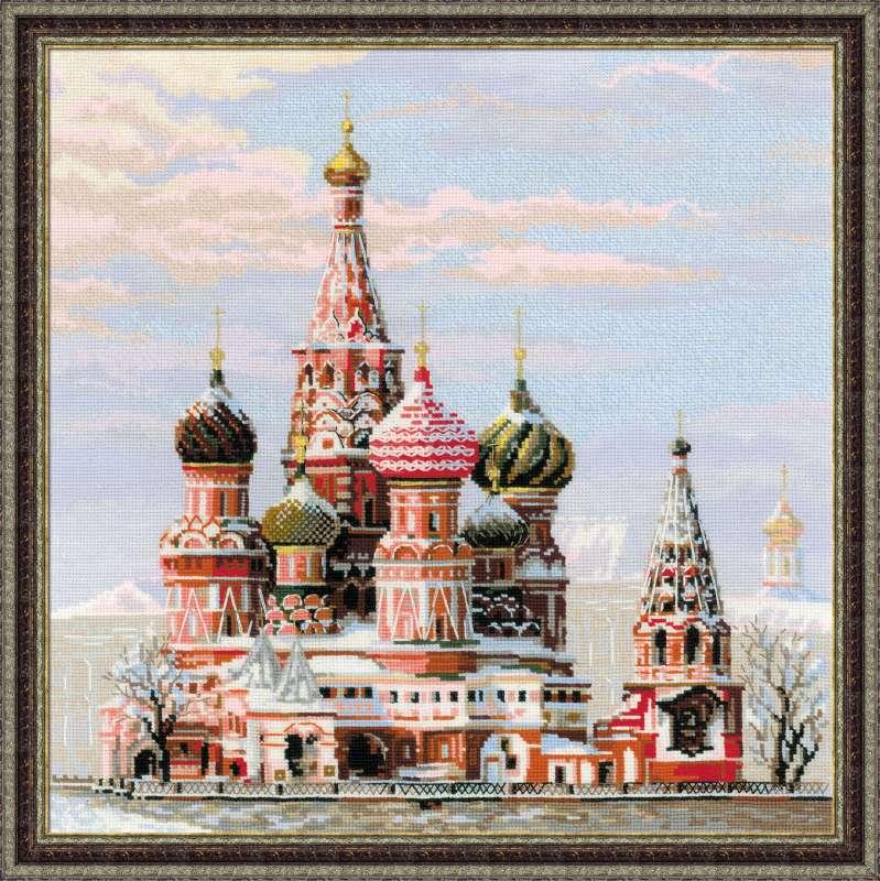 вышивка городские пейзажи храм василия блаженного