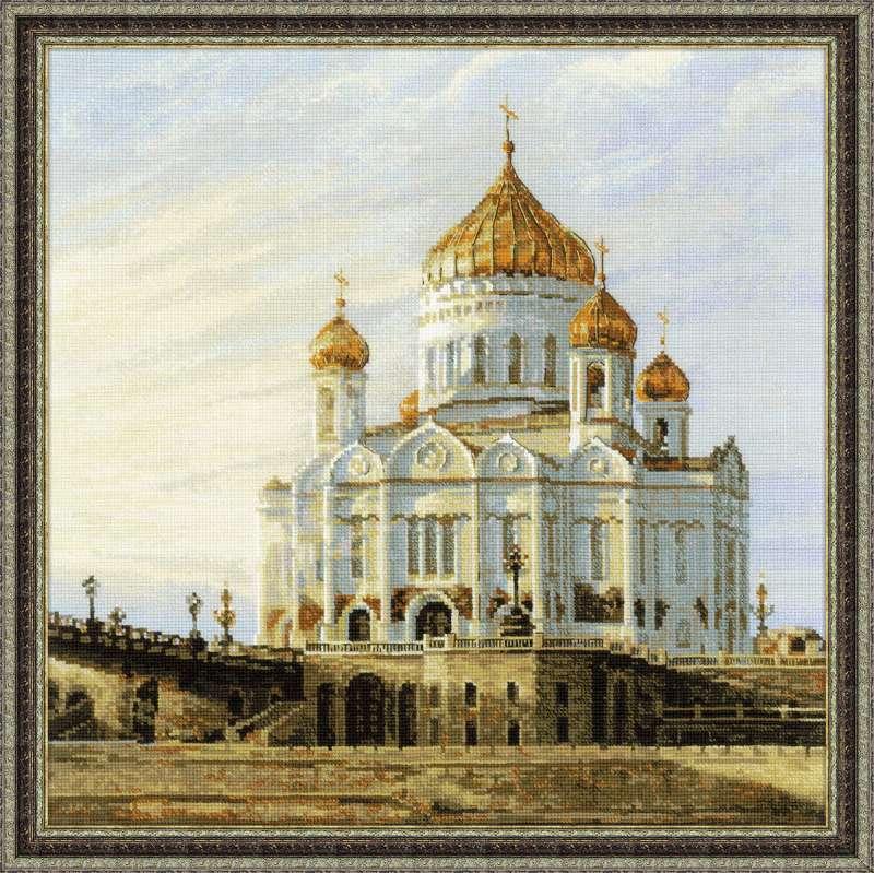 городские пейзажи вышивки храм Христа Спасителя