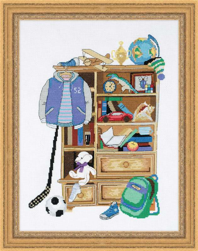 вышивка шкаф для мальчика