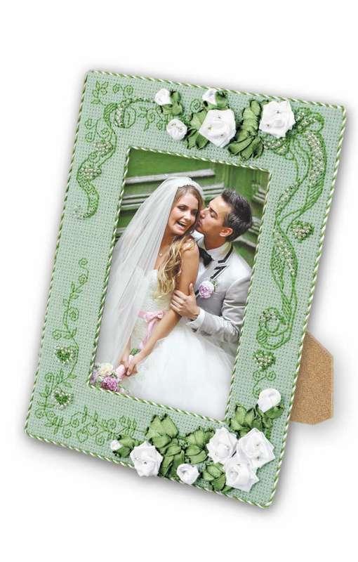 рукоделие для свадьбы – рамка для фотографии