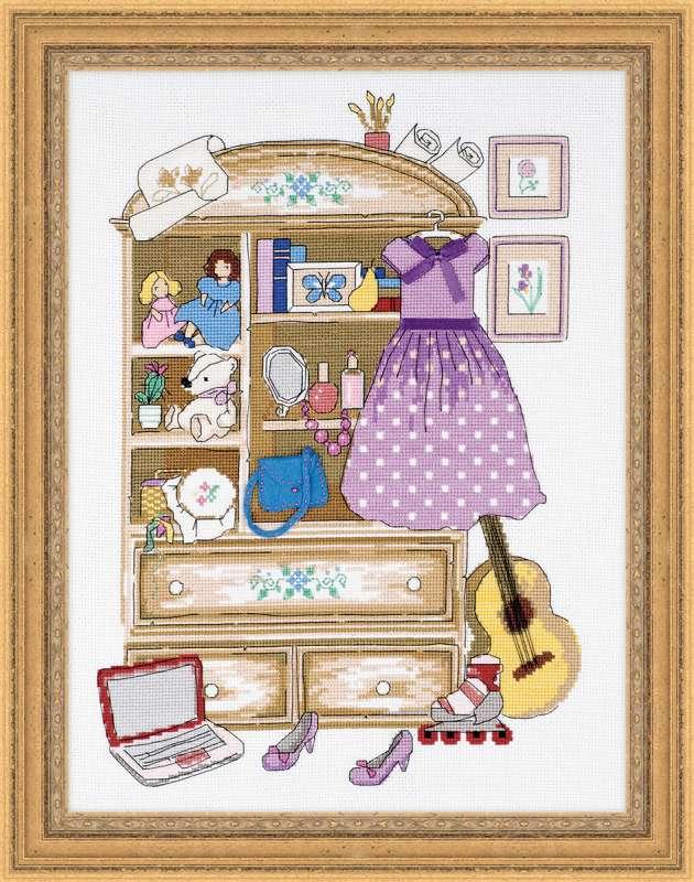 вышивка шкаф для девочки