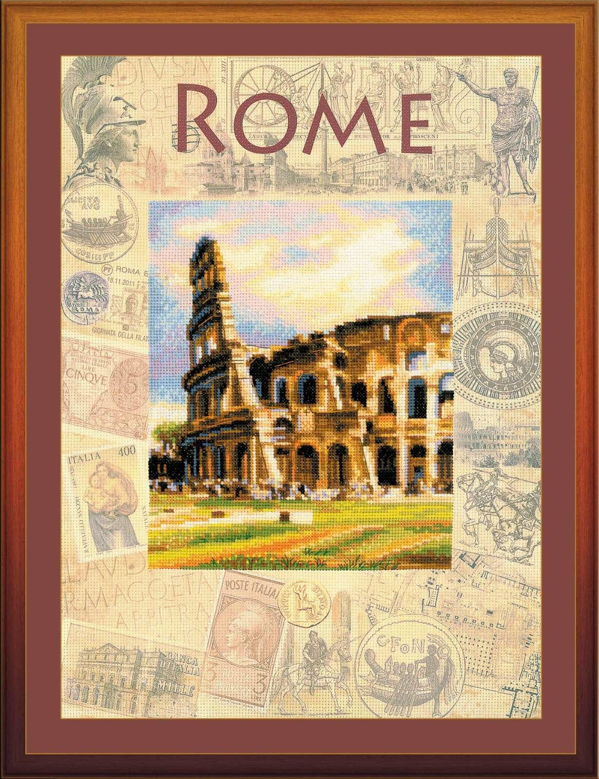 Вышивка городские пейзажи рим