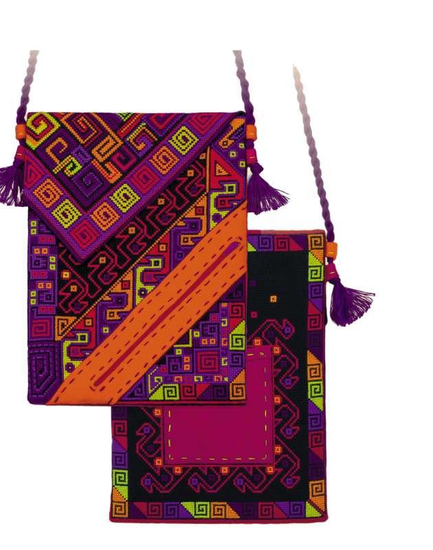 сумка с вышивкой крестом