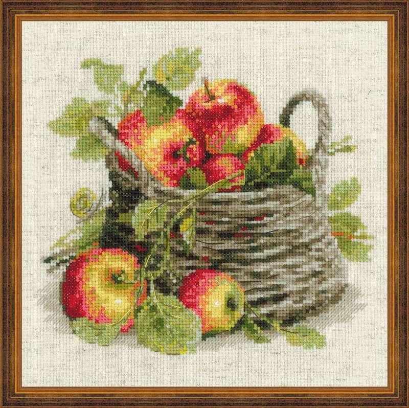 набор для вышивания шерстью спелые яблоки