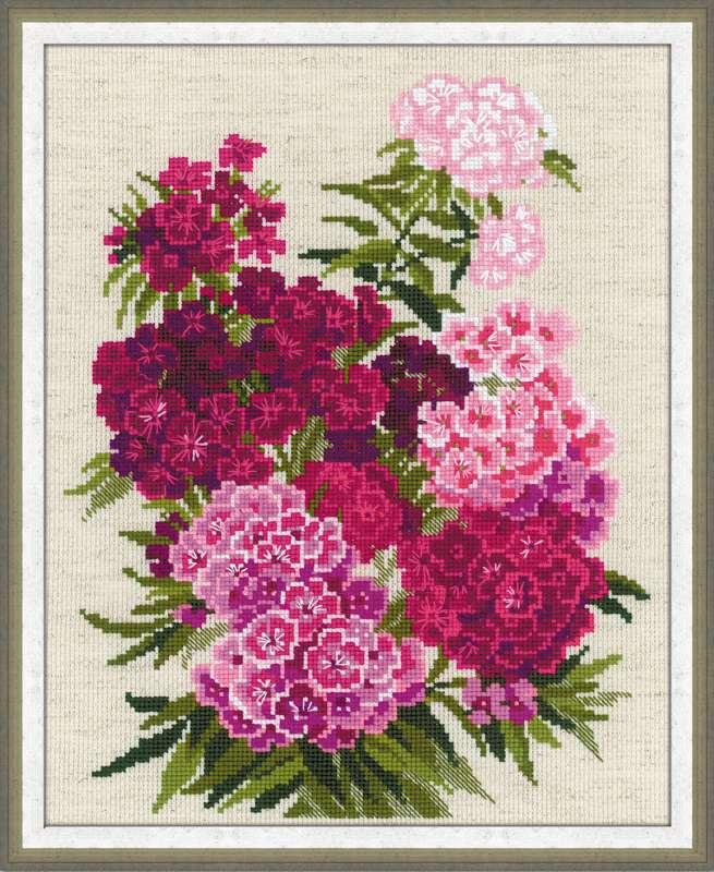 набор для вышивания цветов крестом № 1463