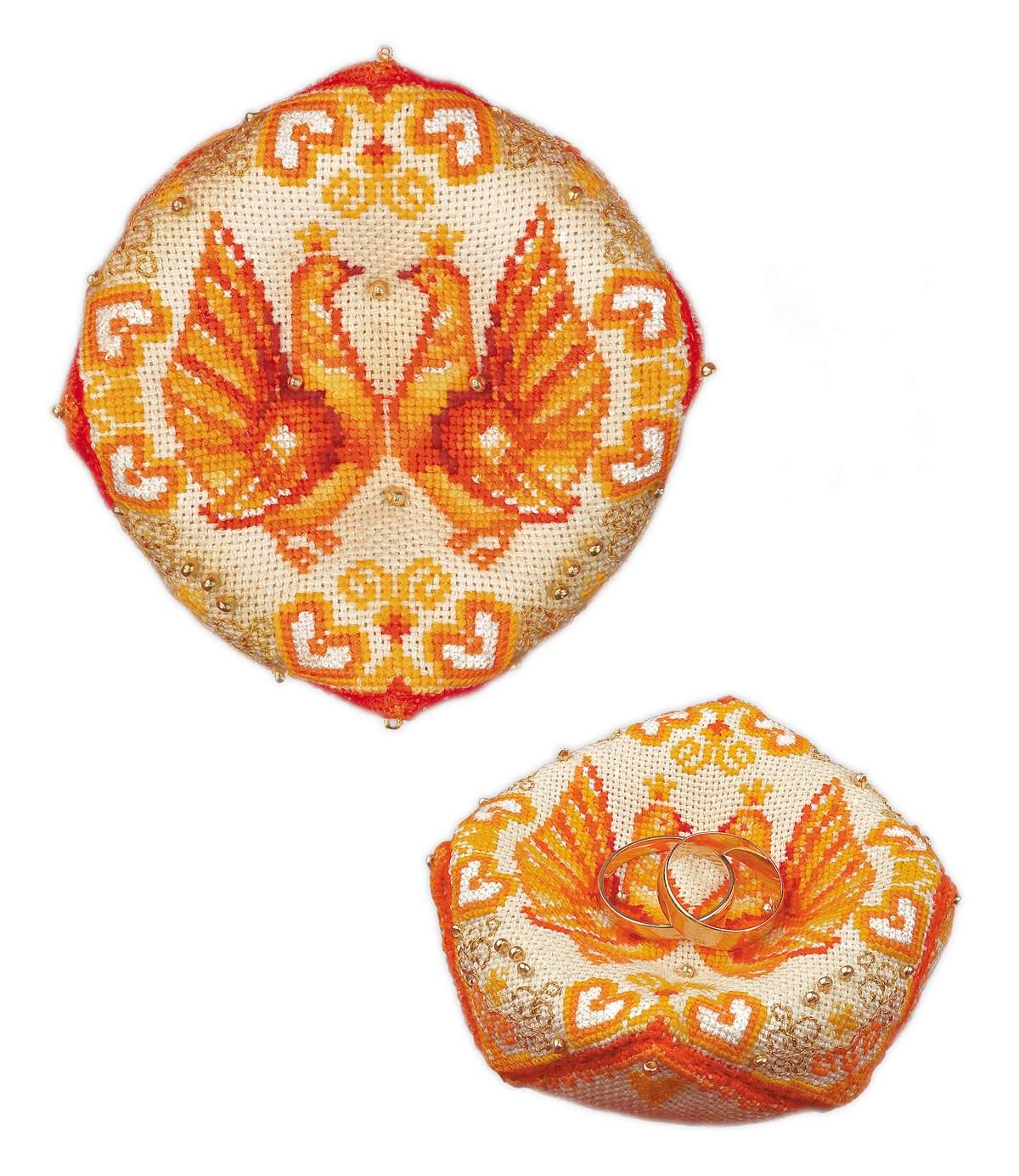 набор для рукоделия свадебная подушечка для колец