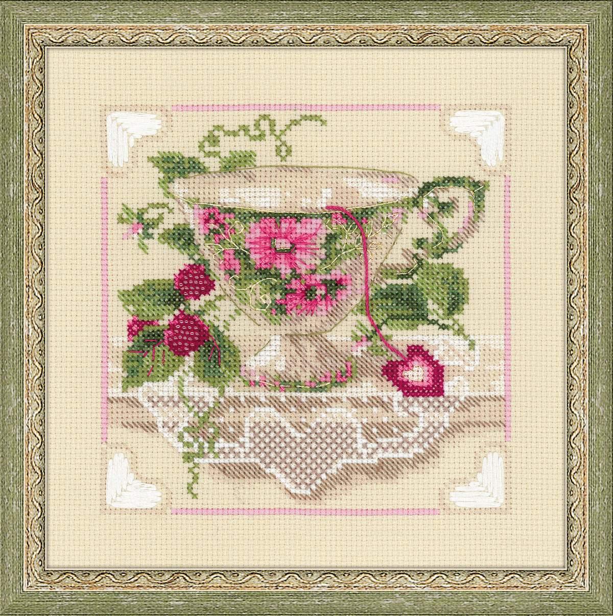 Вышивка риолис чай схема