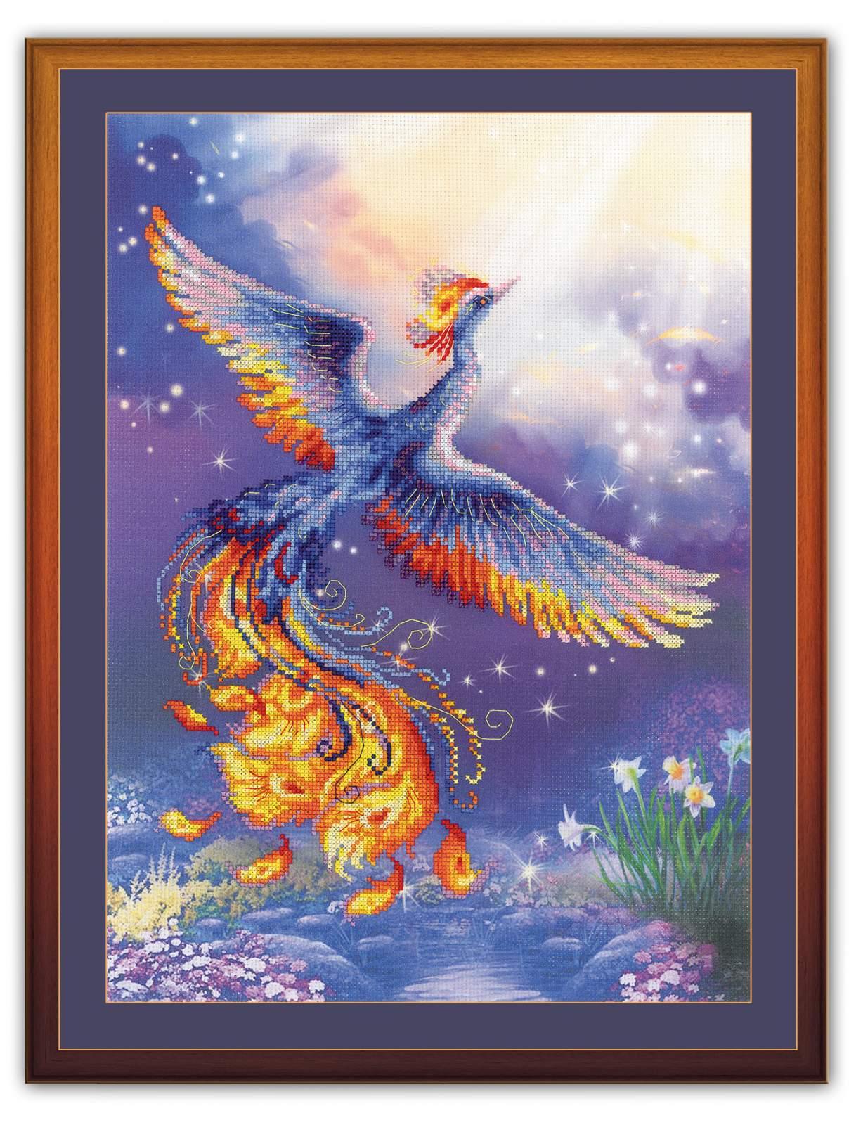 набор для вышивания крестом птица счастья