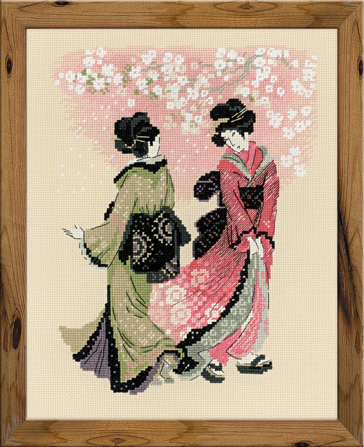 "вышивка сакура ""Вишни в цвету"""