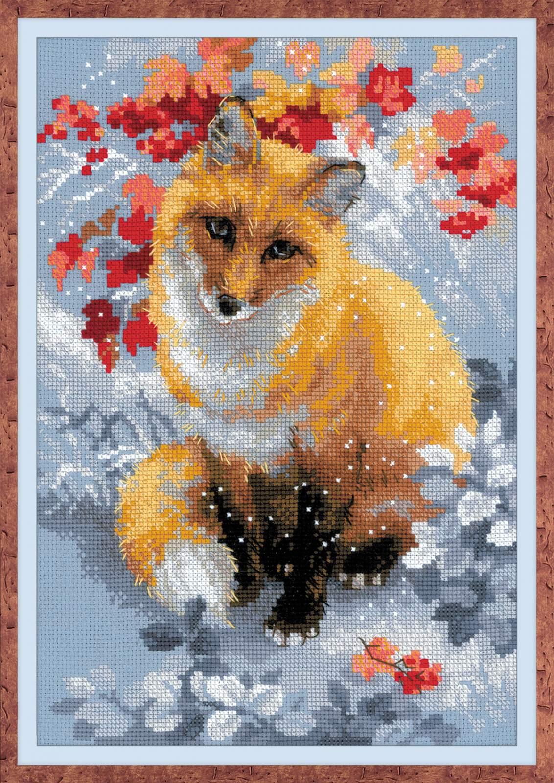 Лисица вышивка крестом