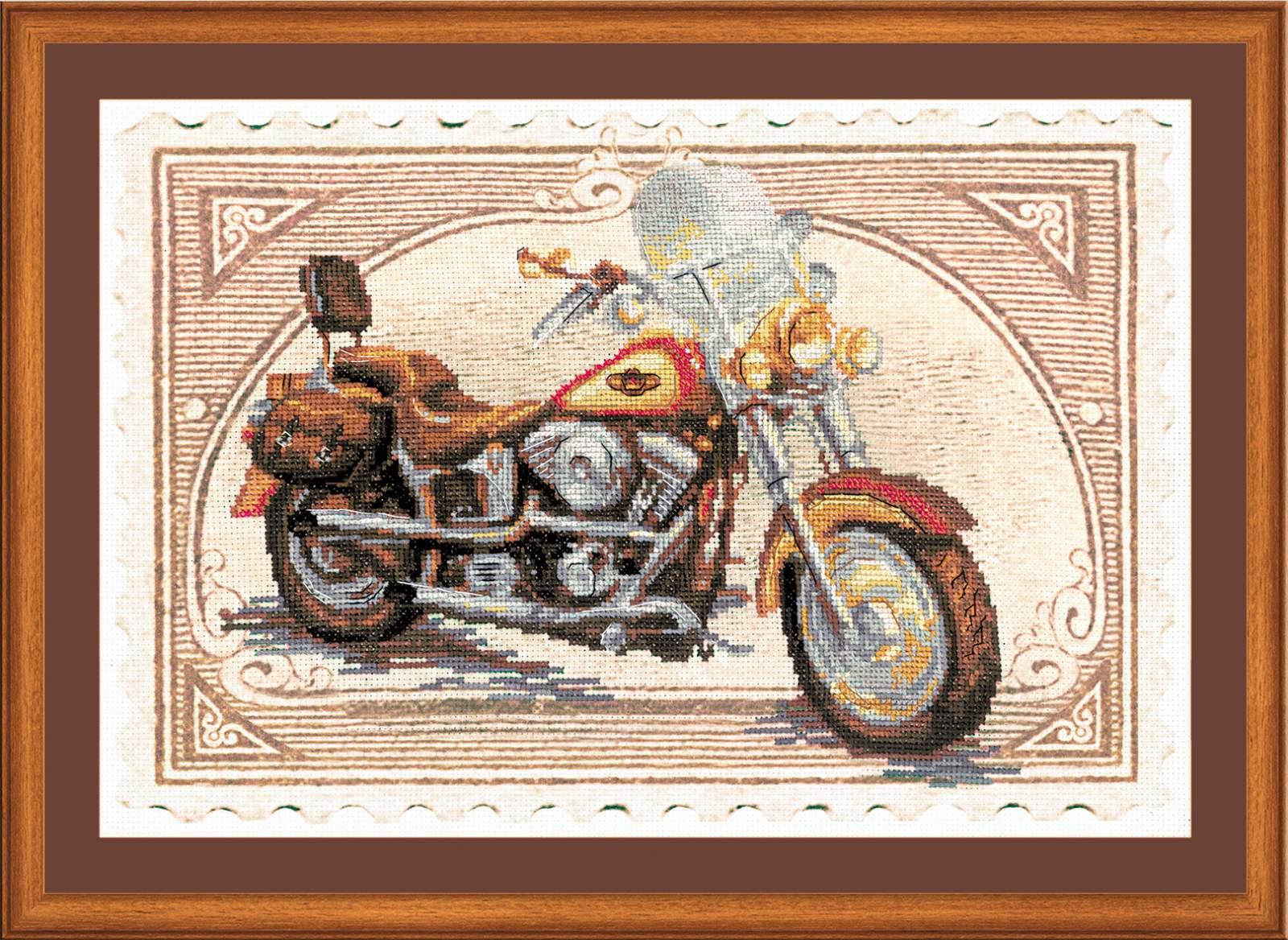 Вышивка крестом Harley Davidson