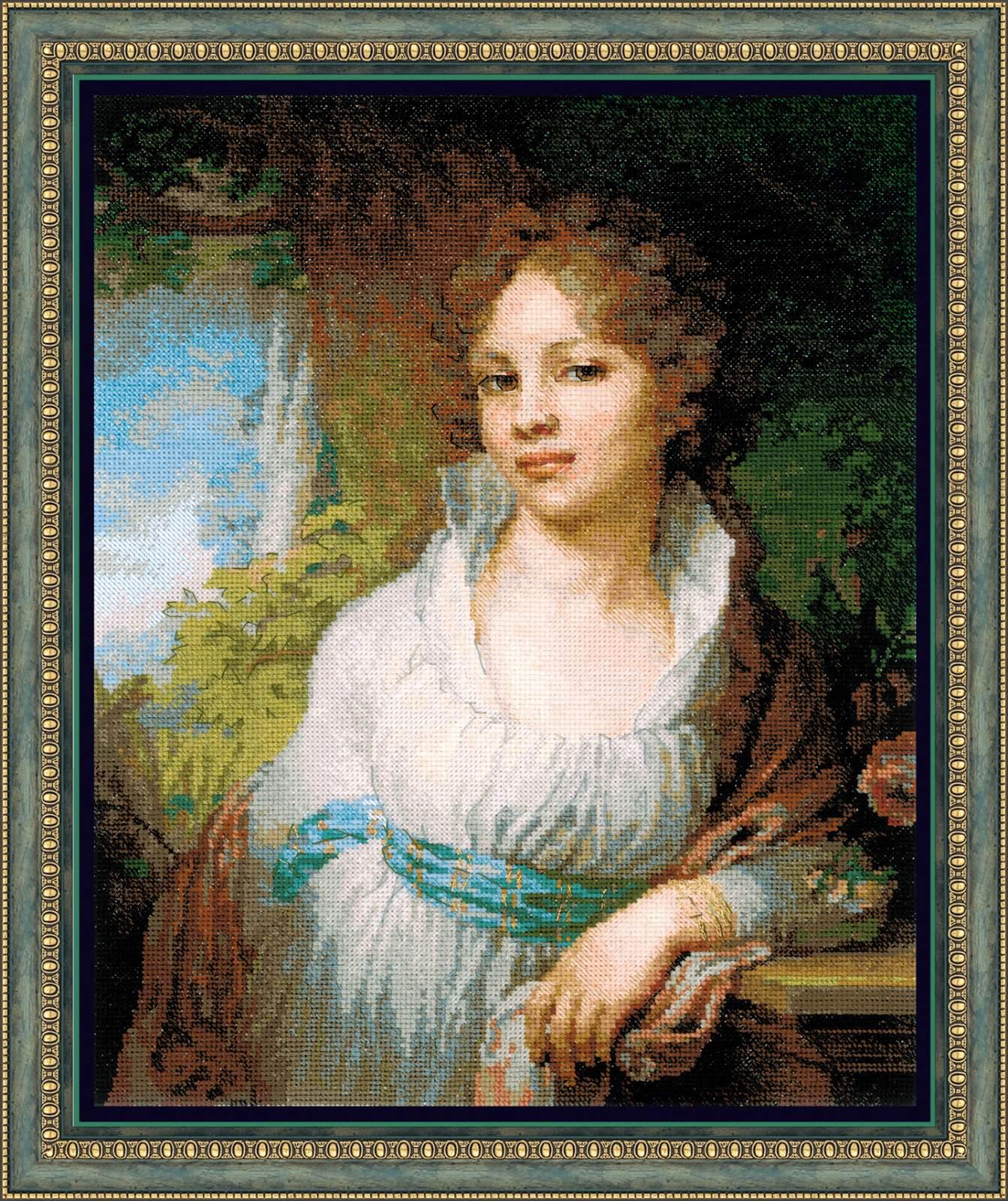 вышивка по картине портрет Лопухиной