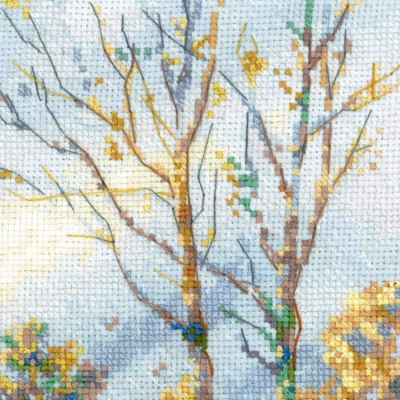 вышивка по мотивам картины муравьева лось в зимнем лесу