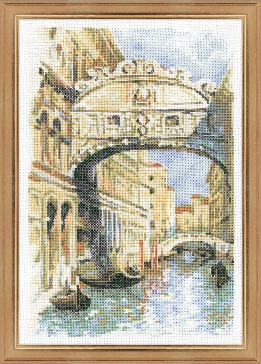 вышивка венеция мост вздохов