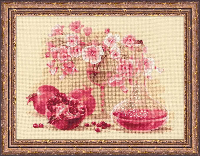 Розовый гранат вышивка крестом