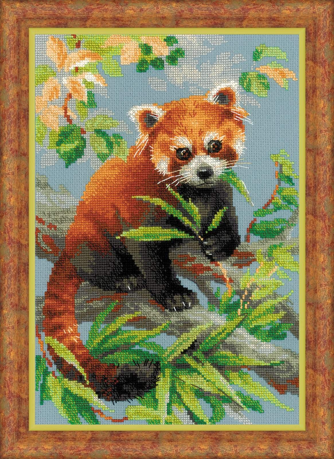 вышивка красной панды