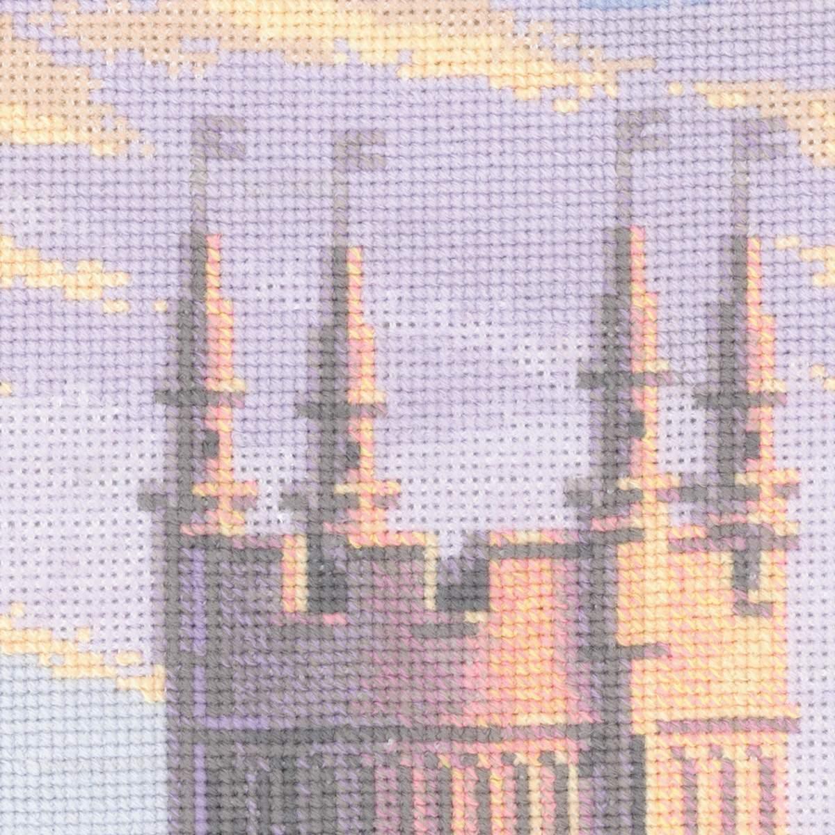 вышивка ласточкино гнездо башня